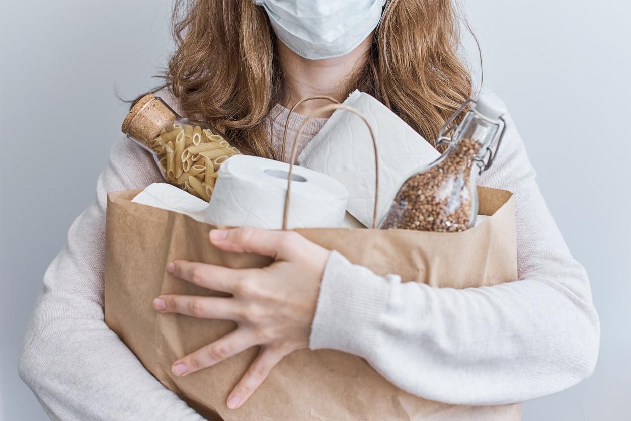 courses en vrac zéro déchet sac kraft produits alimentaires