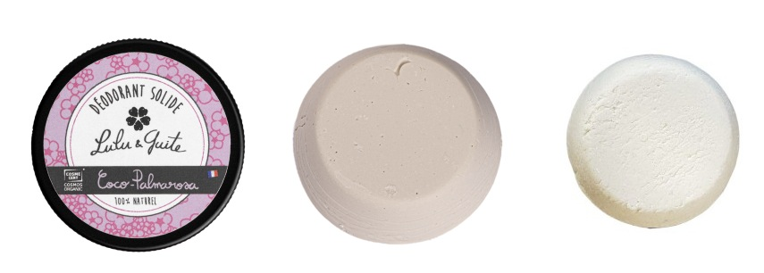 test comparatif déodorants zéro déchet solide lulu et guite