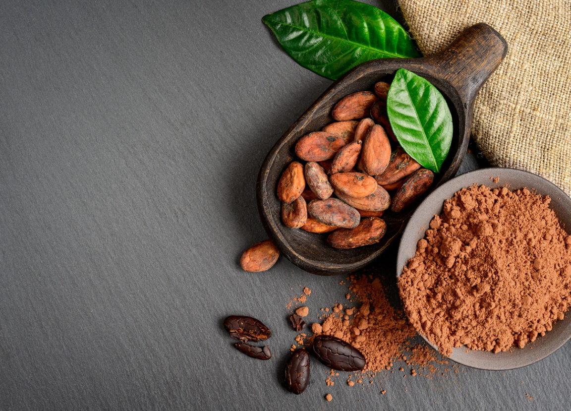 fèves de cacao empreinte carbone chocolat
