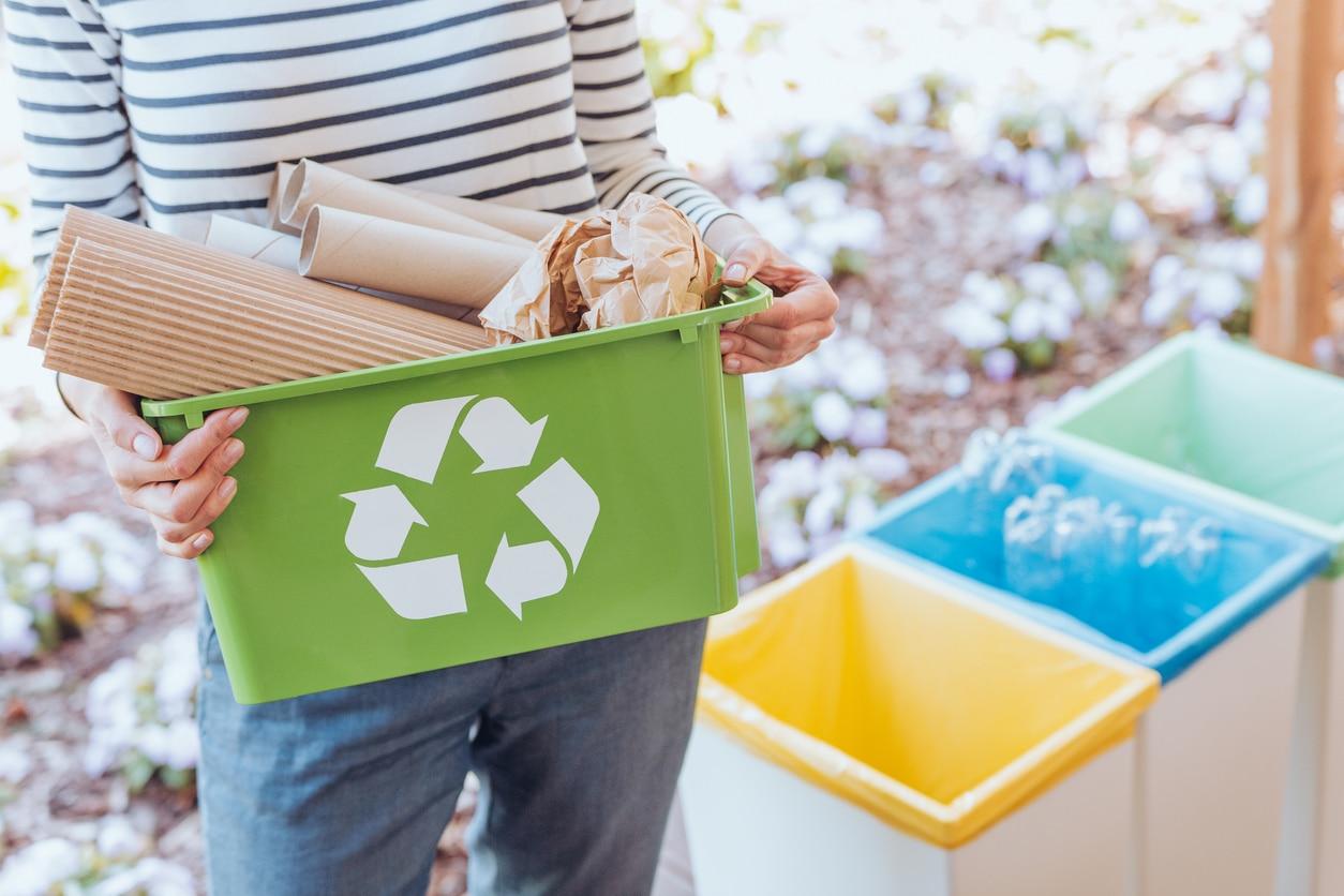bac de recyclage tri sélectif poubelle écologique