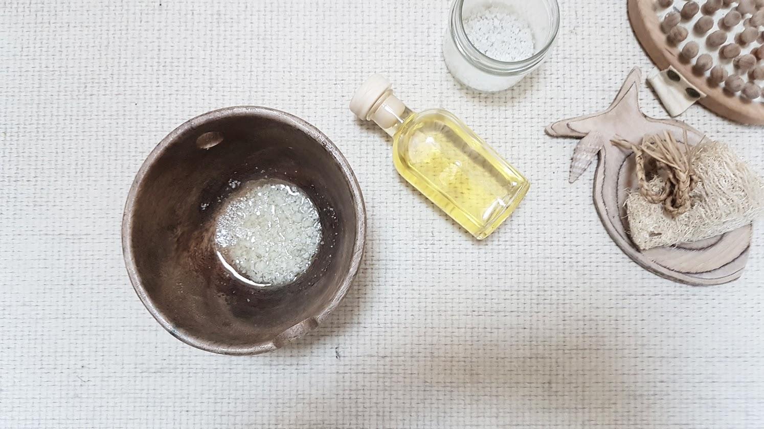 gommage corps sel recette zéro déchet
