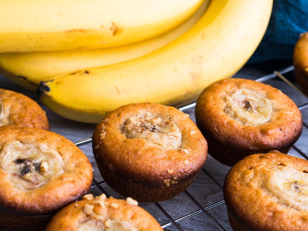 muffins peaux de bananes recette cuisine anti gaspillage