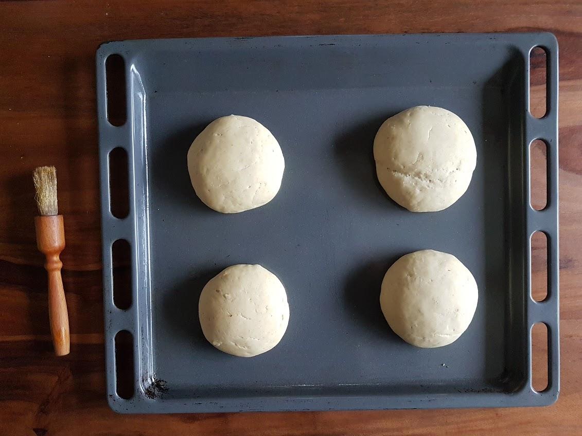 pains burger maison recette pinceau