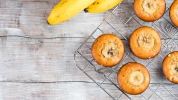 muffins à la peau de banane recette cuisine