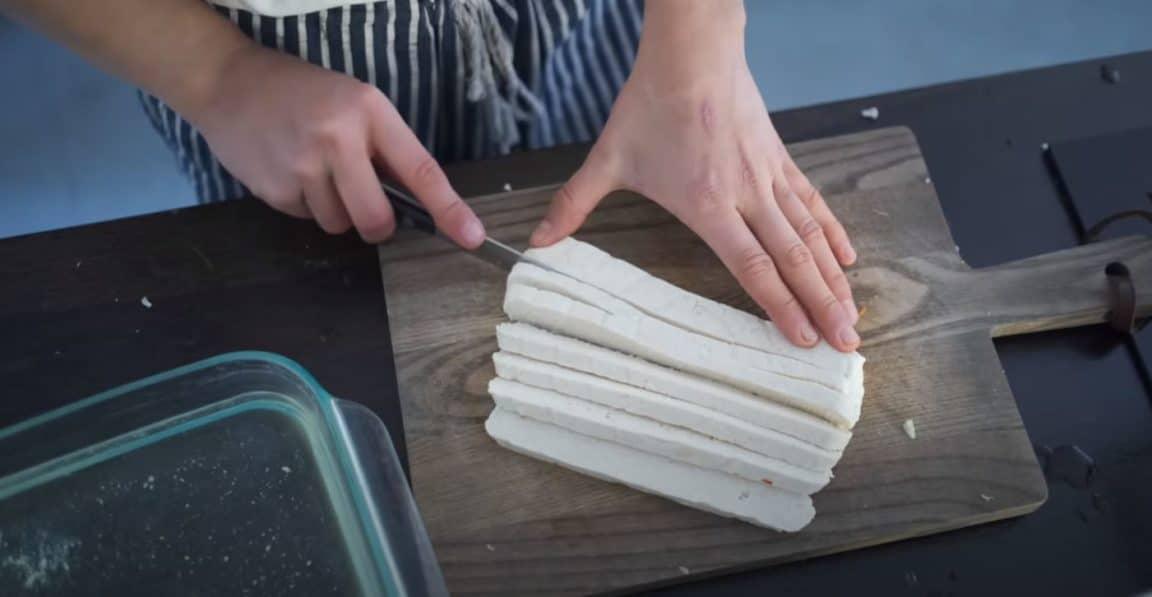 tranches de tofu maison recette cuisine