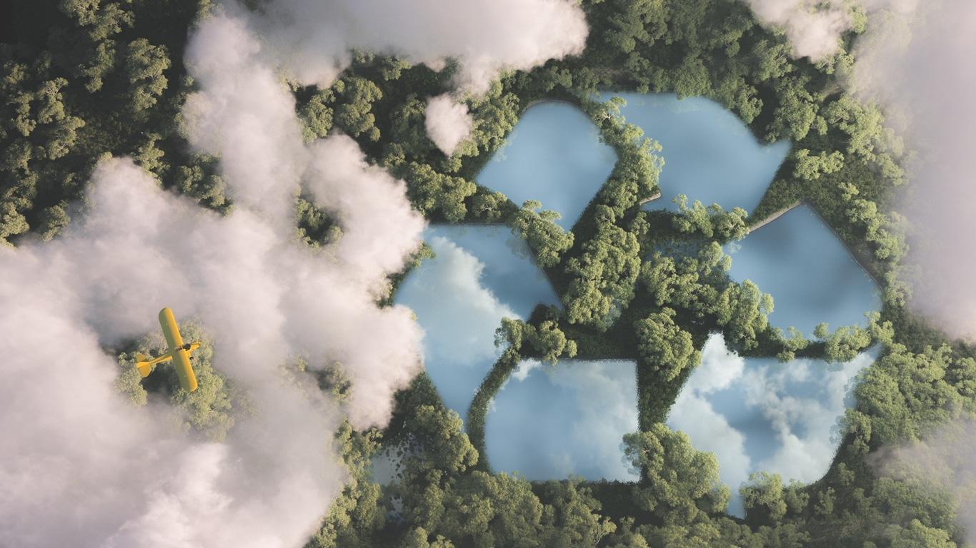 trajet avion impact du recyclage sur la terre ciel écologie