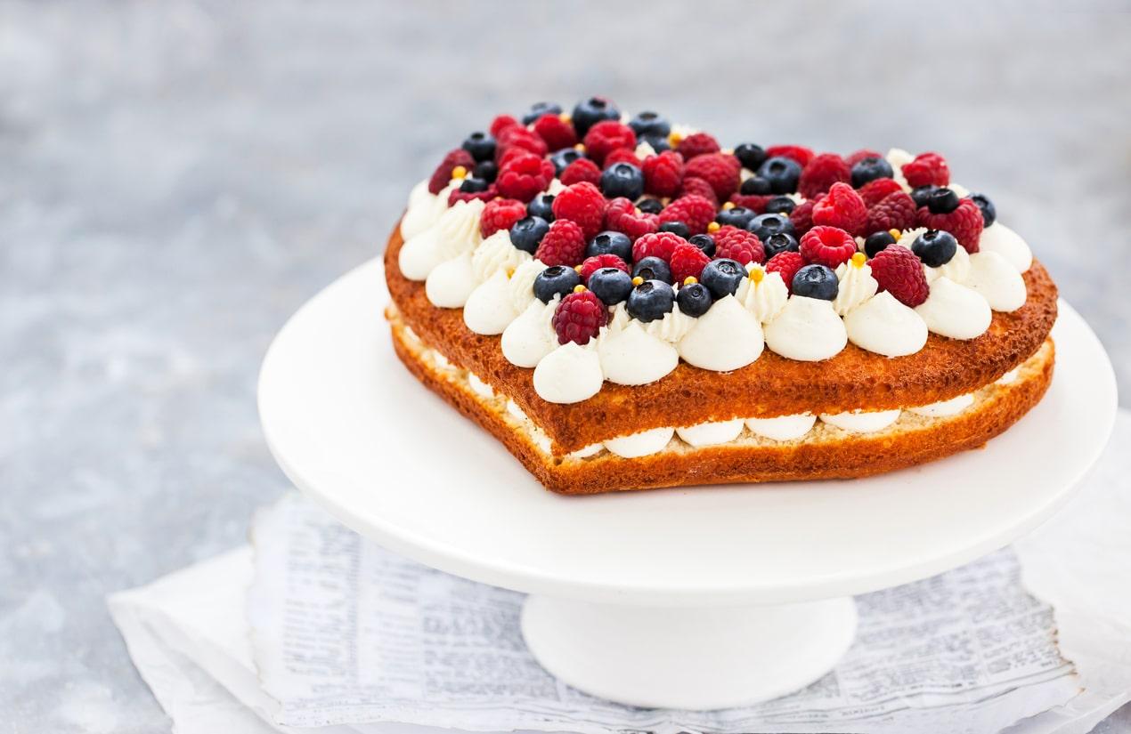 gâteau coeur fête des mères dessert cuisine