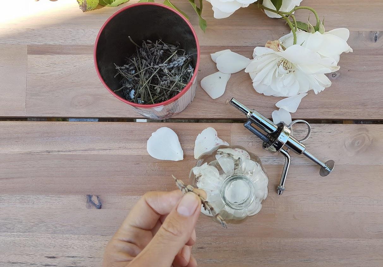 parfum maison fleurs lavande pétales rose