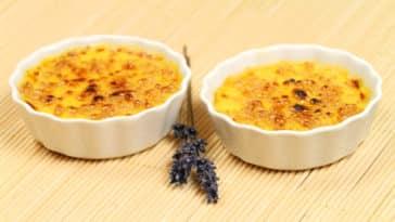 Crème brûlée lavande recette vegan dessert sans oeuf ni lait