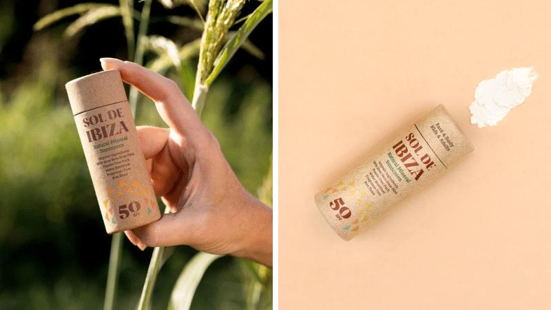 crème solaire solide stick Sol de Ibiza naturelle zéro déchet biodégradable