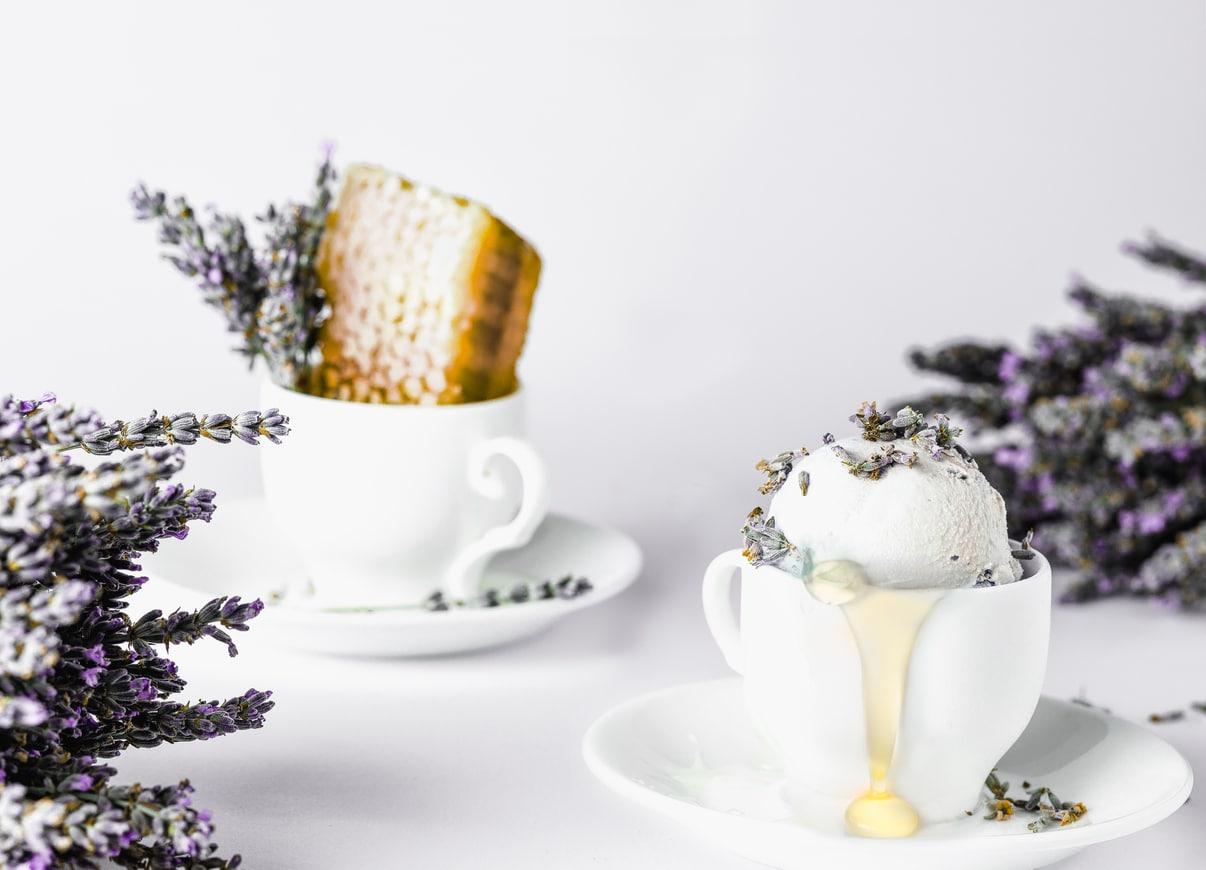 glace fleurs miel plante