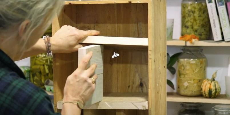 hôtel à insecte construction bois caisse compartiments