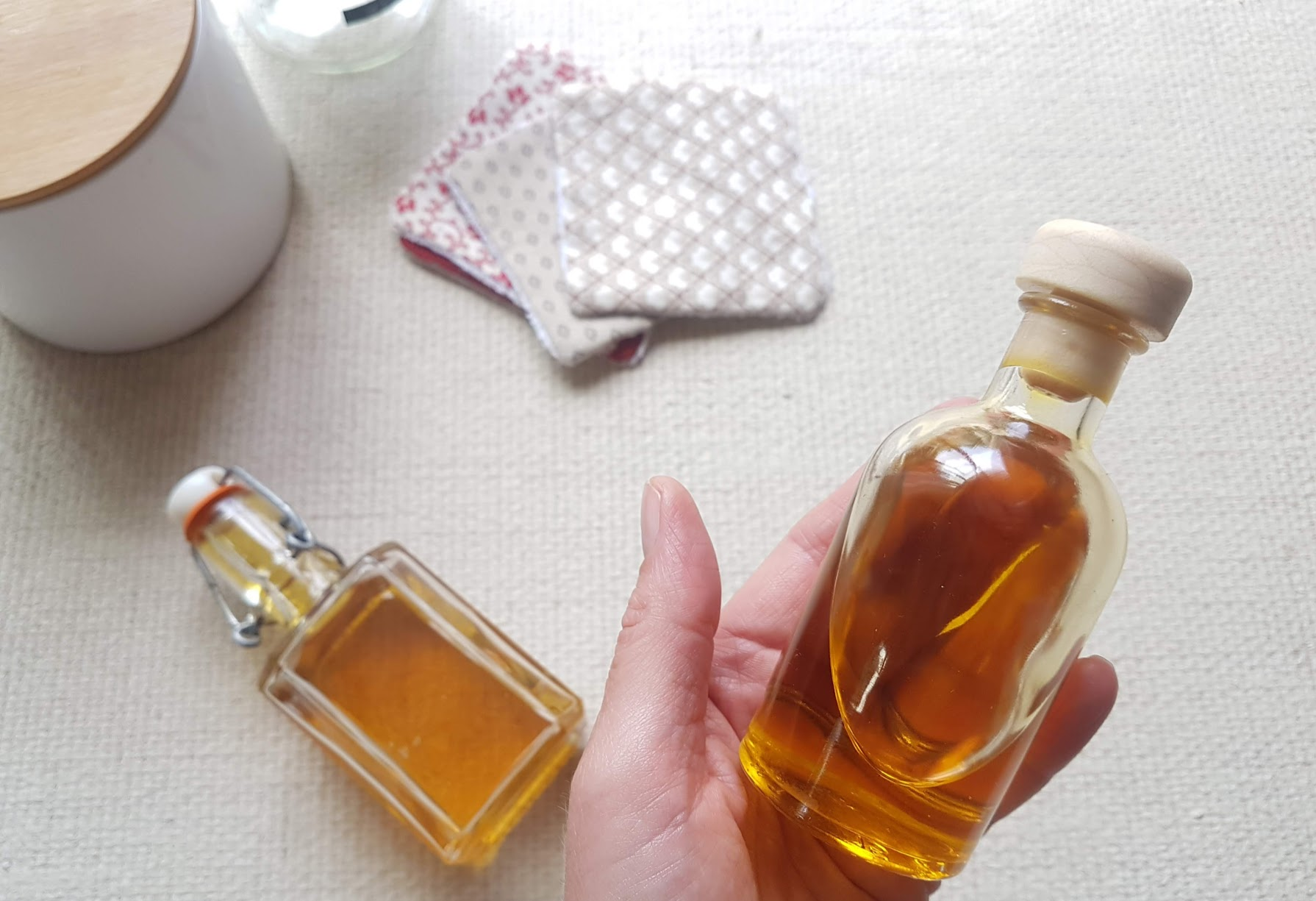 lotion corps recette zéro déchet huile hydratante maison cosmétique naturel