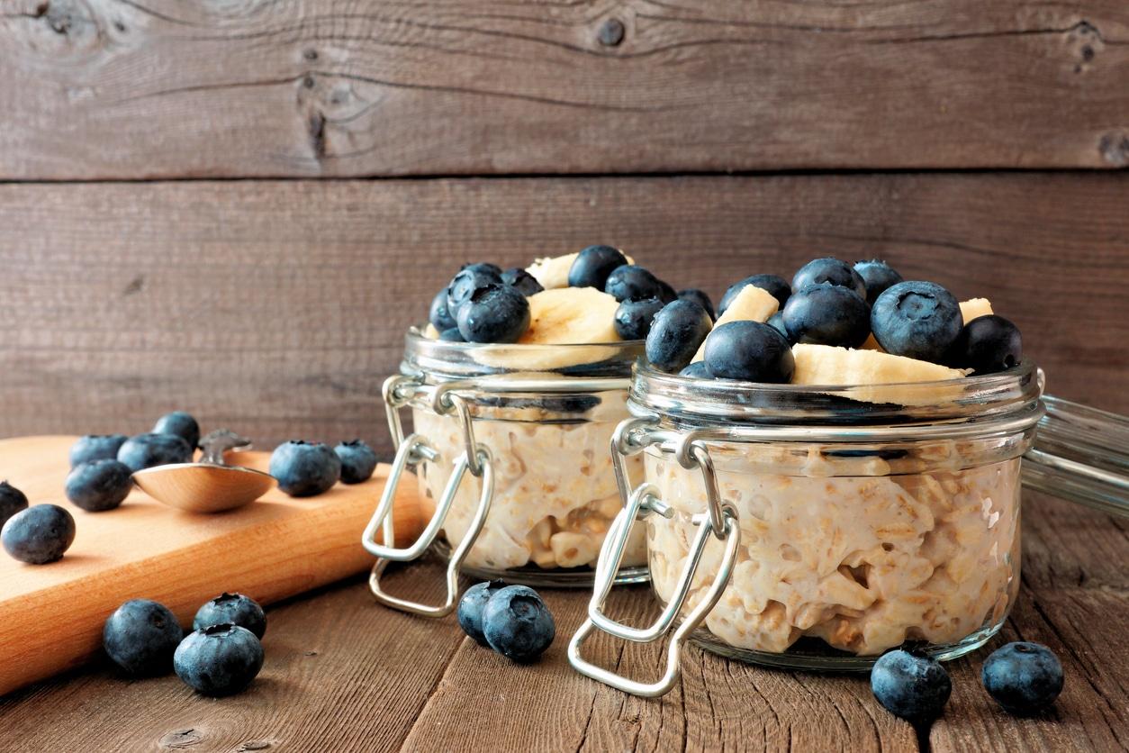 cuisine recette batch cooking crèmes dessert bocaux verre fruits salade