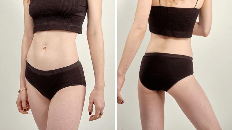 culotte menstruelle noire écologique