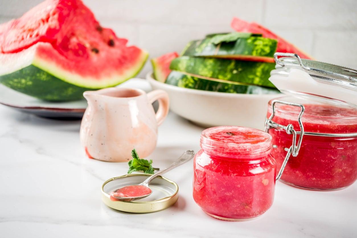 écorces pastèque fruit recette confiture zéro déchet