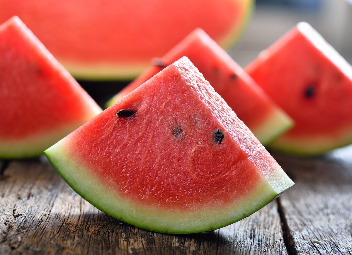 melon d'eau tranches de pastèque fruit été