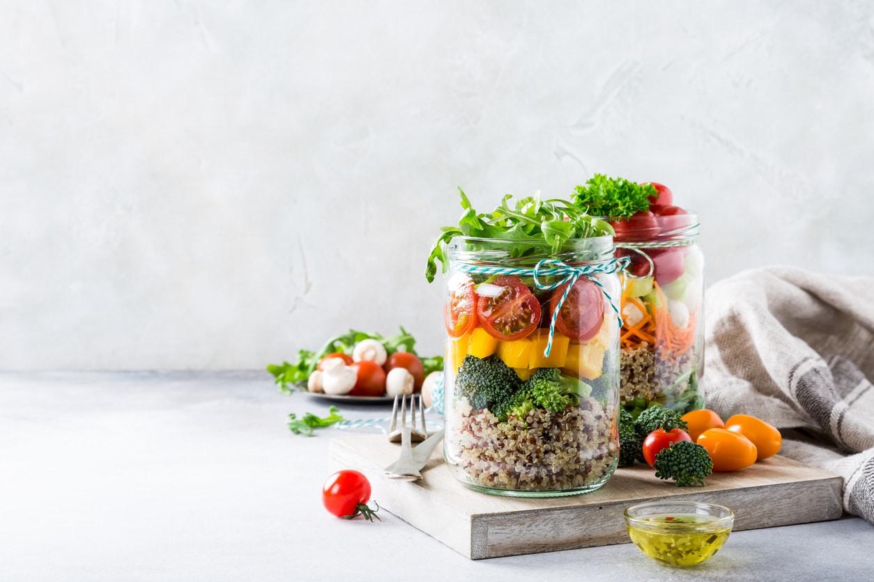 salade bocaux batch cooking recette cuisine idées
