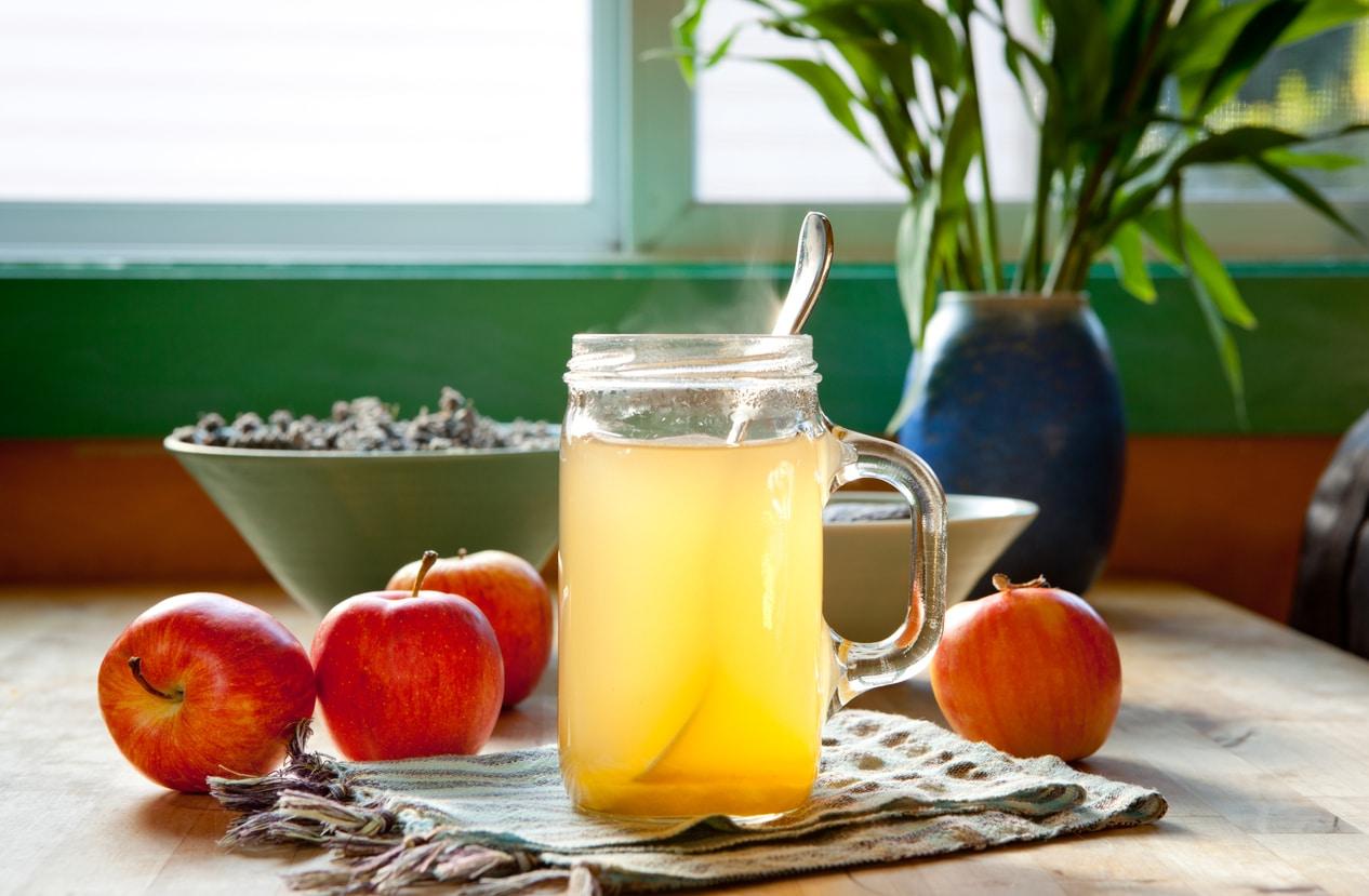 vinaigre de cidre verre pomme bocal recette naturelle