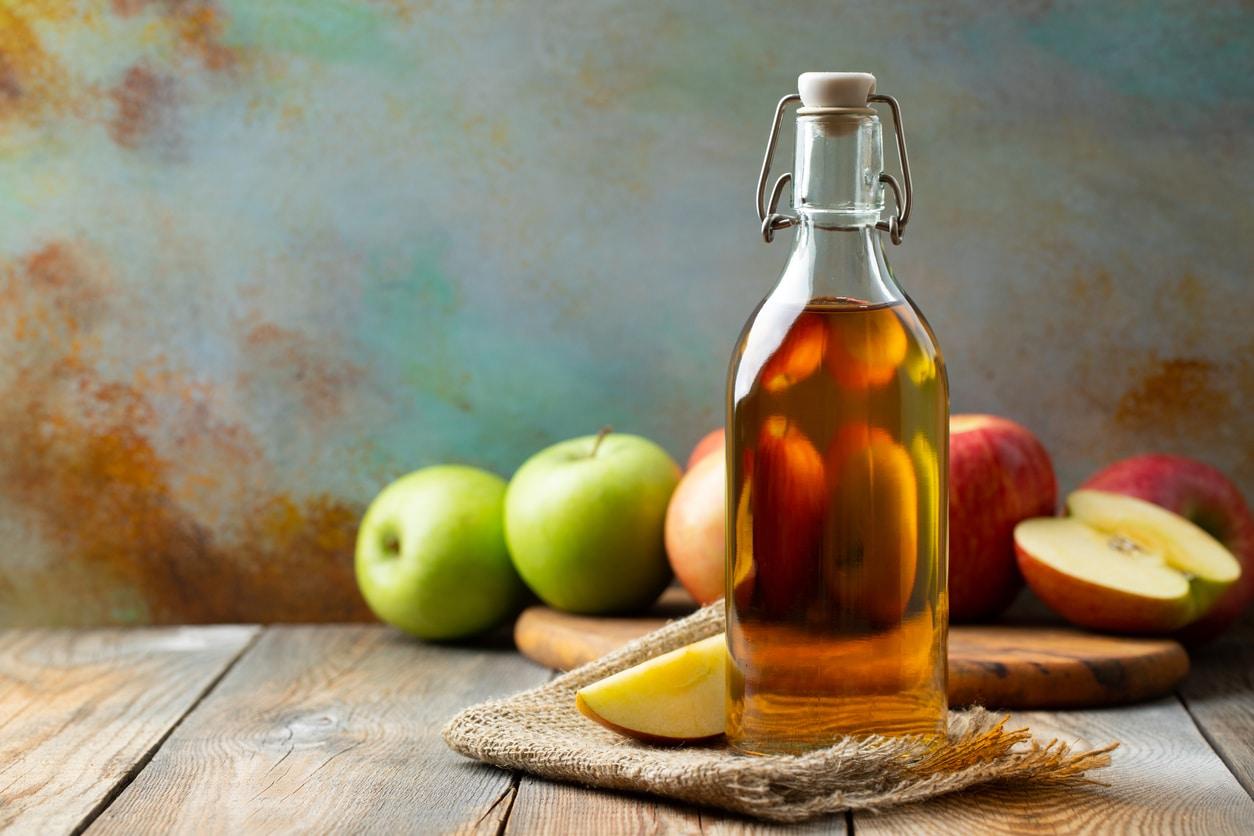 vinaigre de cidre pommes bouteille recette maison