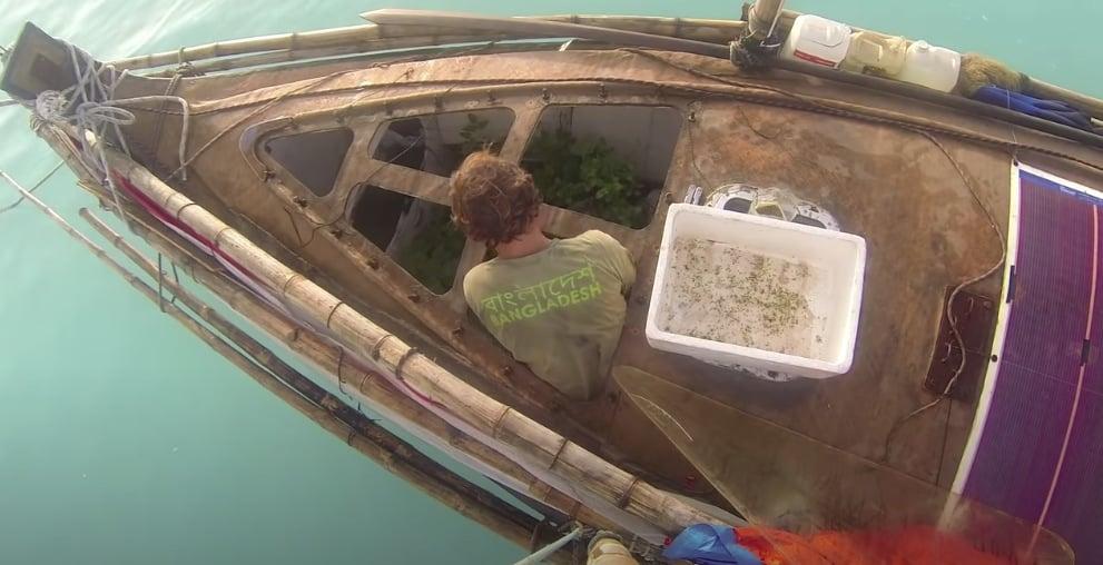 bateau jute corentin de Chatelperron mer