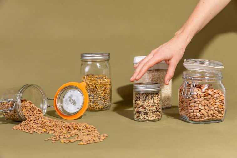 bocaux bocal verre avantages graines stockage zéro déchet conservation cuisine aliments