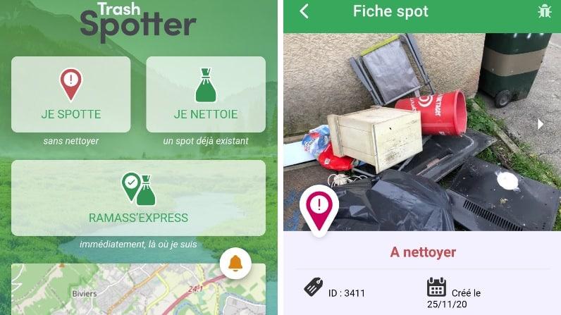 fiche spot nettoyer trash spotter déchets