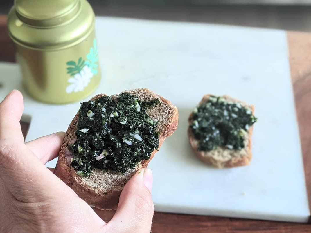 tartare algues maison recette pain apéritif