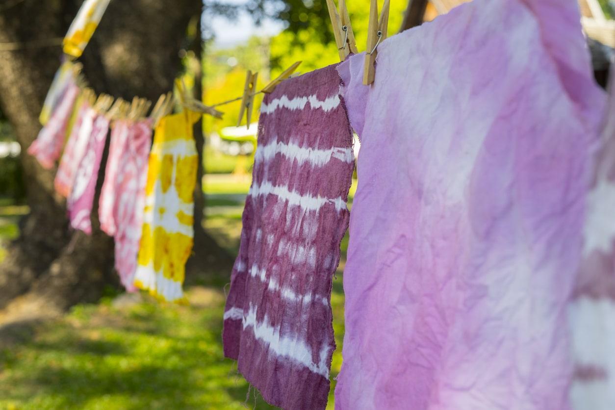 teindre paréos sécher vêtements recette teinture naturelle